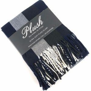 Plush Apparel    Ultra Soft Plaid Scarf - NEW